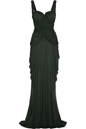 Alexander-McQueen-green-dress