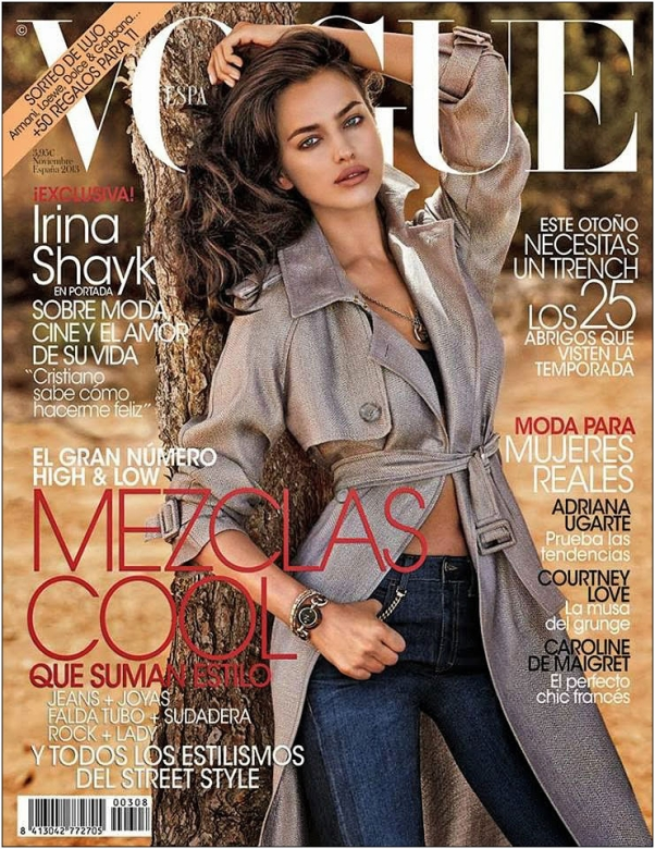 Irina Shayk on the cover of Vogue Spain November 2013