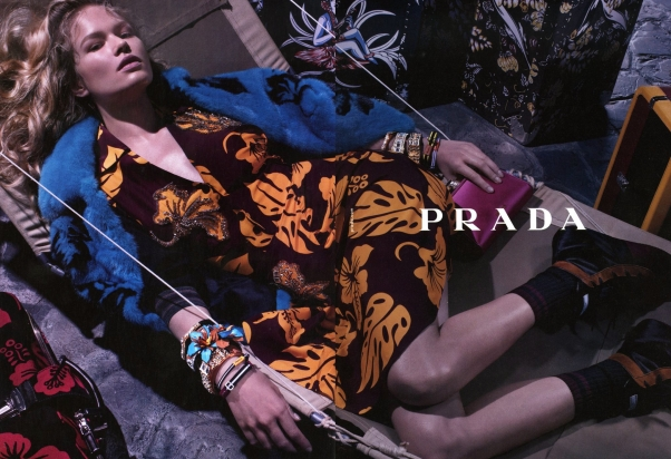Amanda Murphy and Cameron Russell Join Anna Ewers for Prada Resort 2014 Campaign