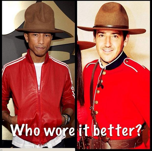 Pharrell Mountie Meme 2