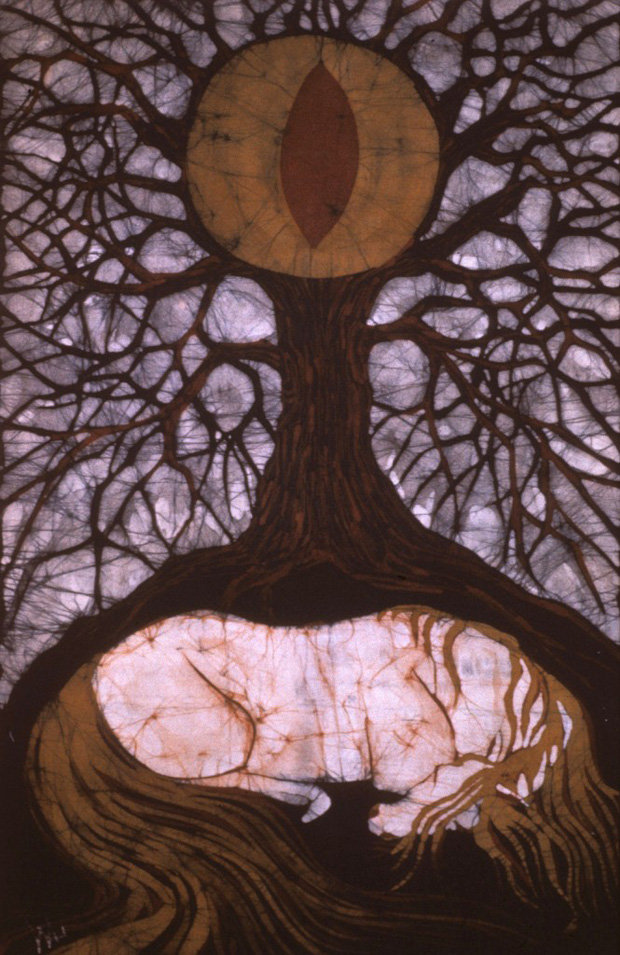 Horse Sleeping Below Tree of Rebirth by Carol Conklin