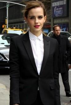 Emma Watson Suits Up in Saint Laurent for David Letterman