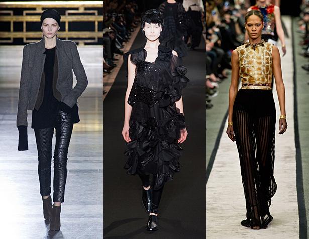 The Hits: Haider Ackermann, Junya Watanabe and Givenchy. Images via IMAXtree.