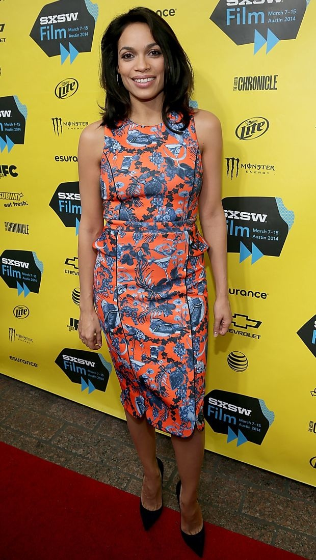 Rosario Dawson Stands Out At Sxsw In A Vibrant Matthew