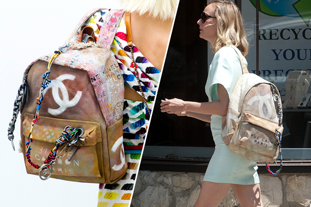 Diane Kruger Chanel Backpack Runway