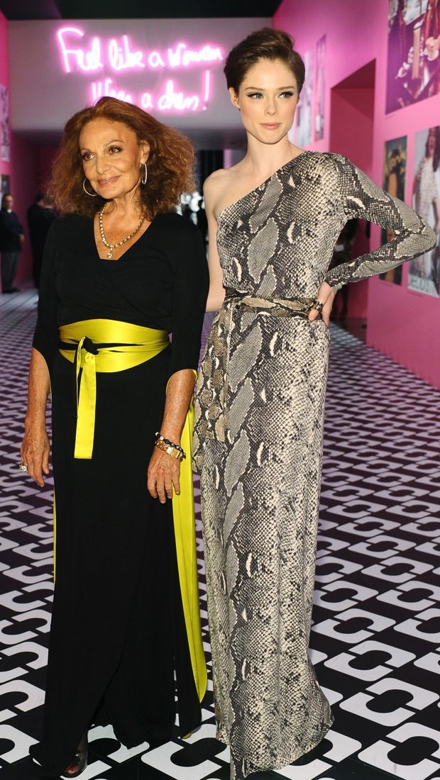 Diane von Furstenberg and Coco Rocha celebrate the iconic DVF dress