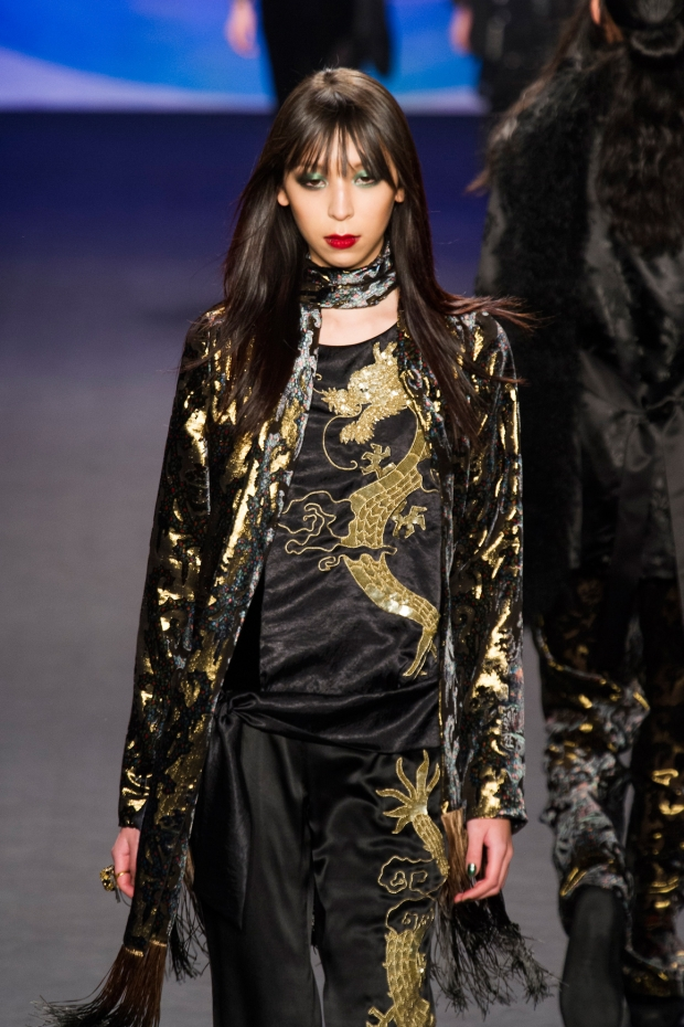 Issa Lish at Anna Sui F/W 14.15 in New York (image credit: imaxtree)