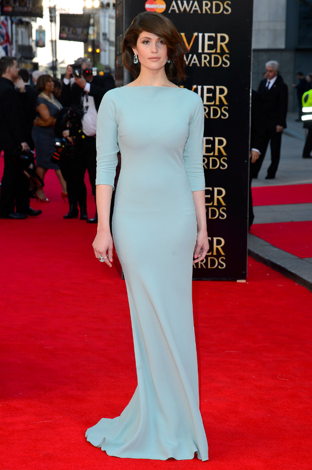 Gemma Arterton Looks Stunning In Prada At Laurence Olivier