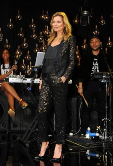 Kate Moss Models Her Own Designs for Topshop at Global Launch Before Partying with Cara and Naomi