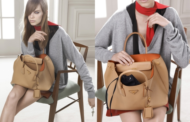 Double prada bag april campaign