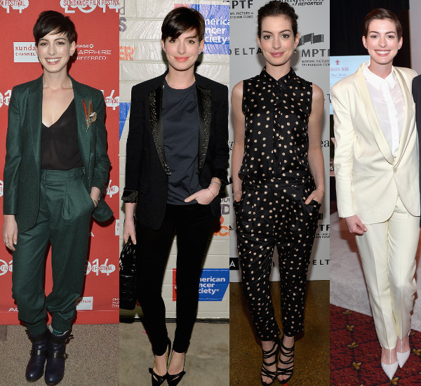 Anne Hathaway's looks with new stylist Penny Lovell.