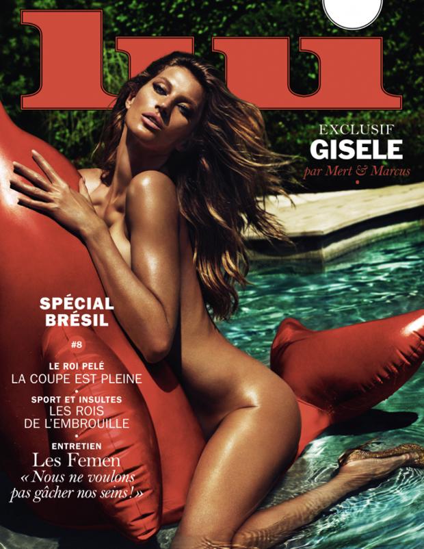 Gisele Bundchen naked Lui Magazine