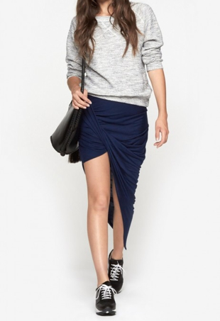Asymmetric, draped skirt by Helmut Lang at The Dreslyn
