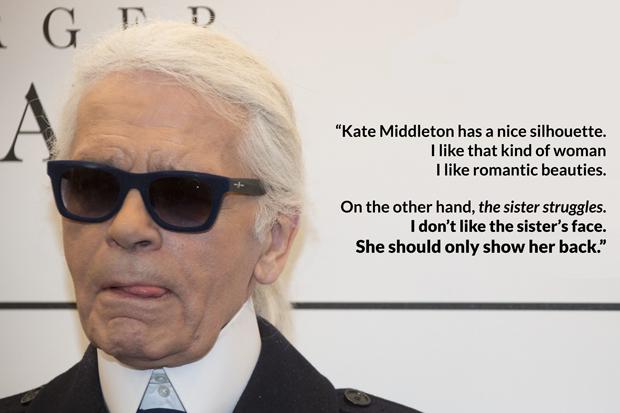 Karl Lagerfeld Bitchy Pippa Middleton