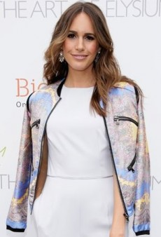 Louise Roe Adds a Pop of Paisley to Her White Reiss Jumpsuit