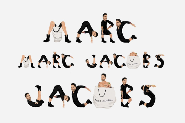 marc jacobs logo drawing