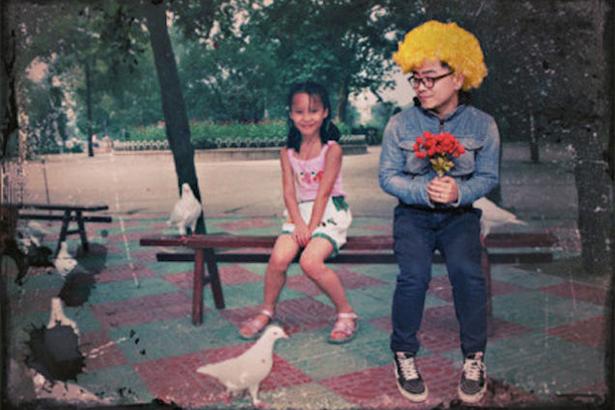 man photoshop fiance childhood photos china