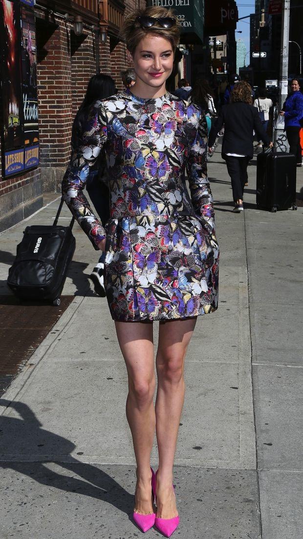 Shailene Woodley Visits David Letterman In Valentino S
