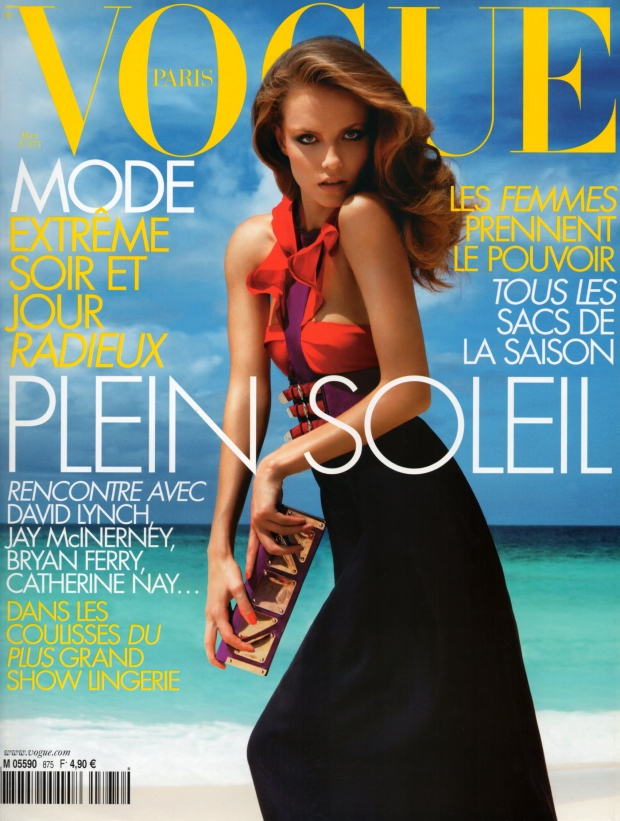 Flashback Vogue Paris March 2007 Natasha Poly