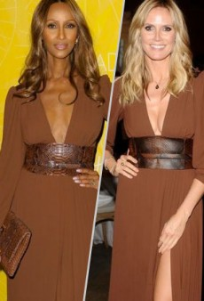 Style Showdown: A Pair of Supermodels Pose in Michael Kors' Rich Nutmeg Dress and More Matching Celebs