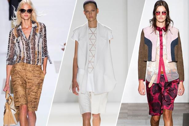 bermuda shorts Diane von Furstenberg, Victoria Beckham, Jonathan Saunders