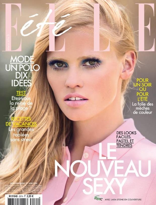 Elle France June 27th 2014 Lara Stone Hans Feurer