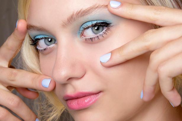 pastel makeup Badgley Mischka Spring 2014, Imaxtree