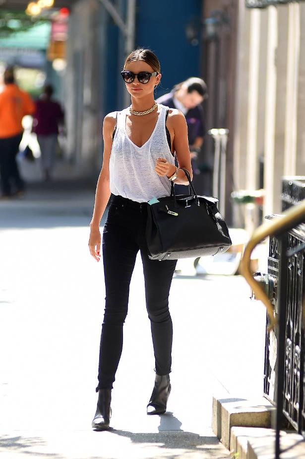 Miranda Kerr New York Street Style