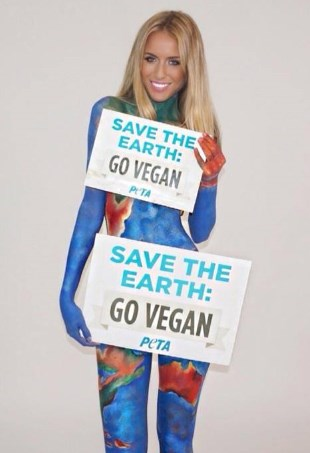 Renne Somerfield Go Vegan PETA