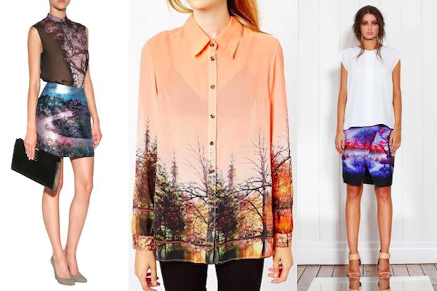 Scenic print fashion