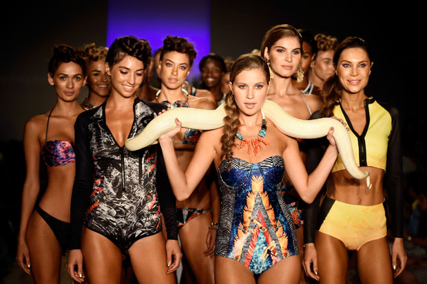 Models walk the runway at the We Are Handsome 2015