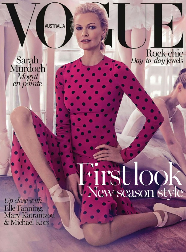 Vogue Australia August 2014 Sarah Murdoch