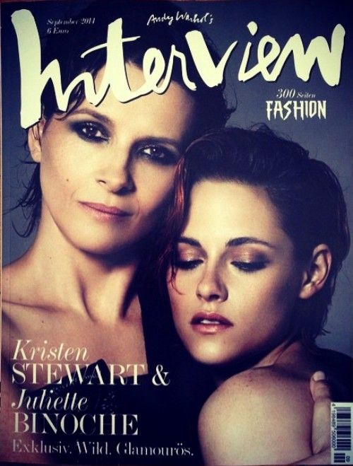 Kristen Stewart & Juliette Binoche on Interview Germany, September 2014 (image credit: whosdatedwho.com via the tfs forums)
