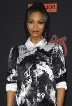 Zoe Saldana Cuts a Sophisticated Silhouette in Preen
