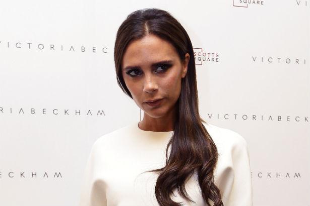 Victoria Beckham in a structured white dress