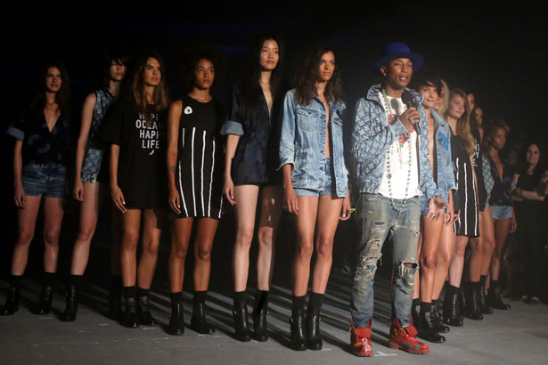 Recording artist Pharrell Williams attends the G-Star RAW Ocean Night Event during Mercedes-Benz Fashion Week Spring 2015