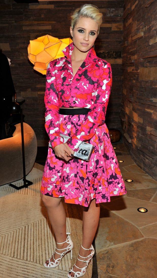 Dianna Agron dines in Diane von Furstenberg