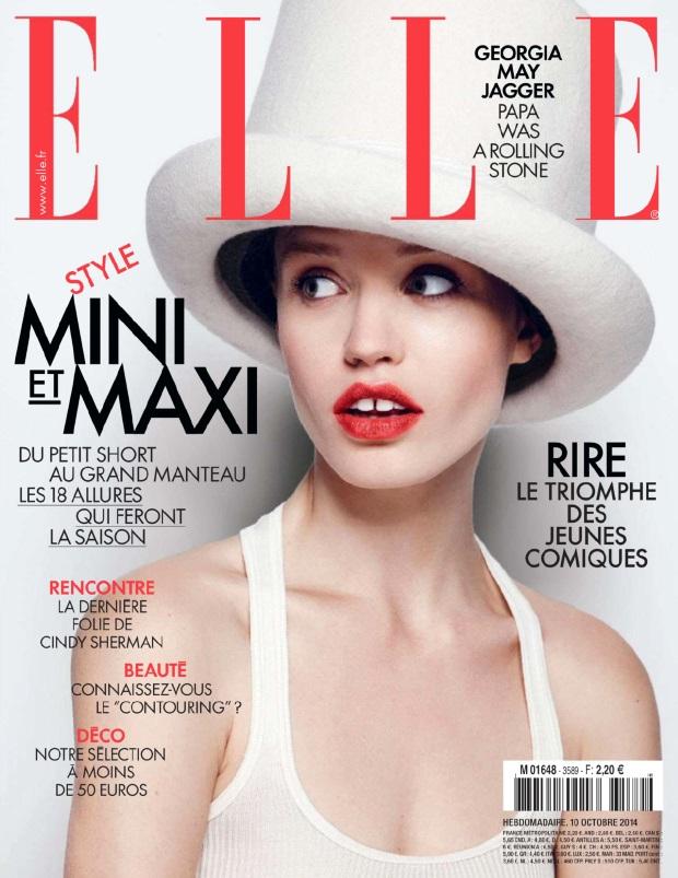 Elle France October 10, 2014 Georgia May Jagger