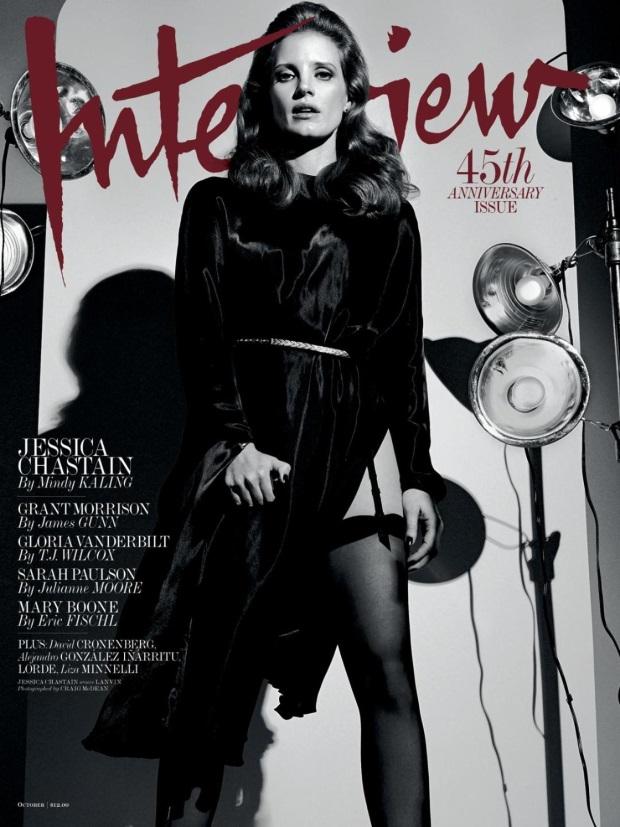 Interview Magazine October 2014 Jessica Chastain