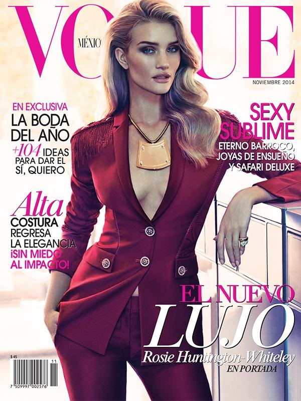 Vogue Mexico November 2014 Rosie Huntington-Whiteley
