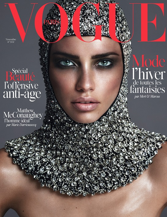 Vogue Paris November 2014 Adriana Lima Mert & Marcus