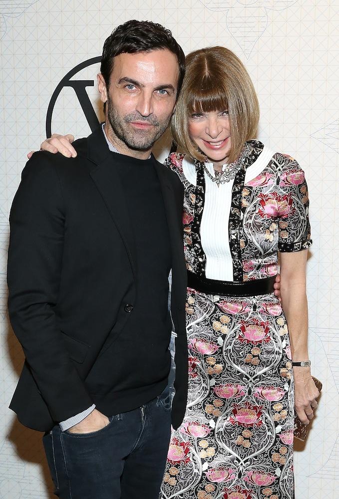 Nicolas Ghesquière and Anna Wintour Louis Vuitton Monogram Celebration