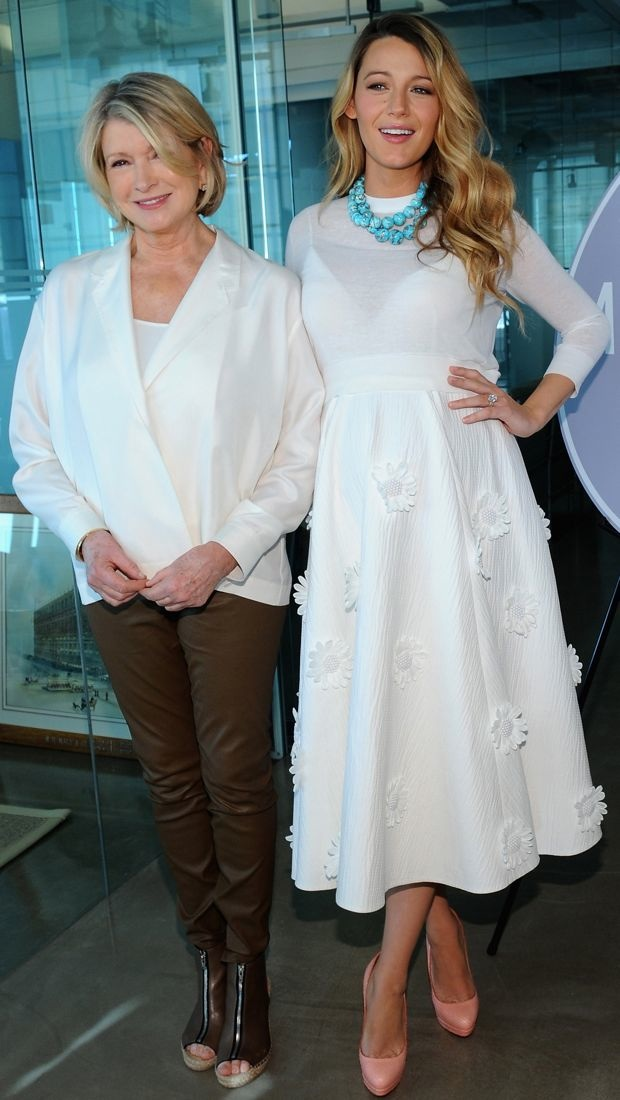 Blake Lively poses with Martha Stewart in Michael Kors