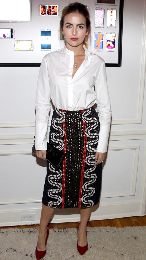 Camilla Belle wears Tory Burch separates