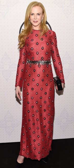 Nicole Kidman wearing a custom Louis Vuitton gown