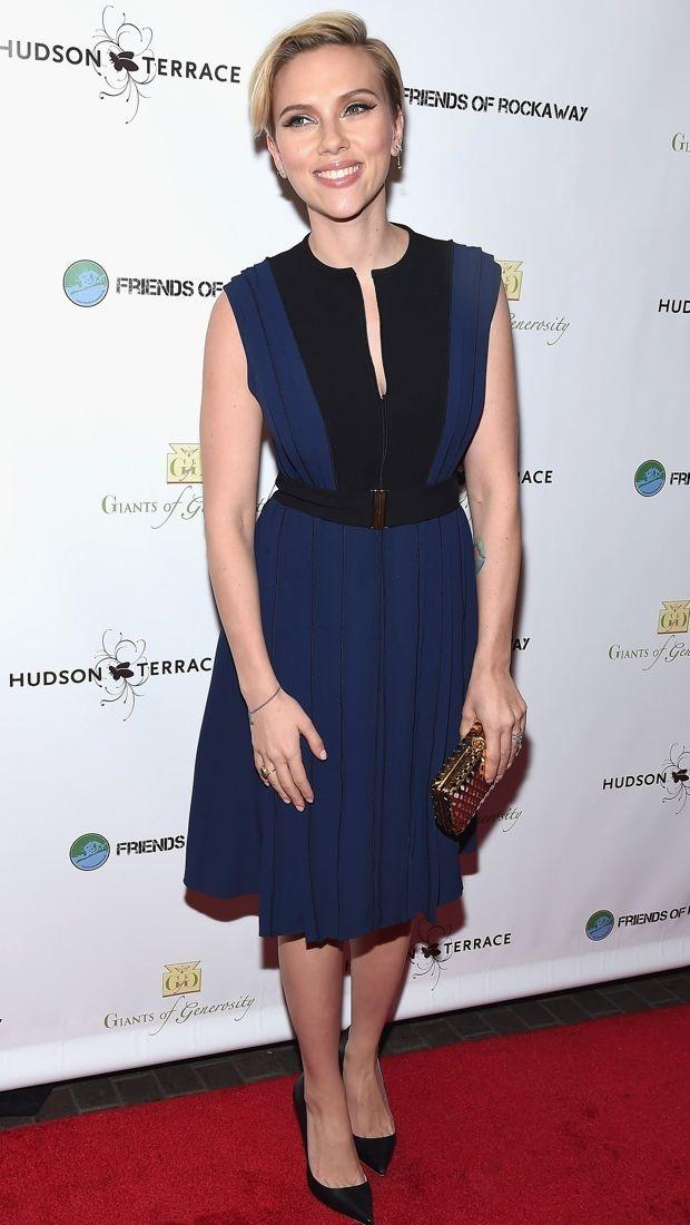 Scarlett Johansson wears a Proenza Schouler dress