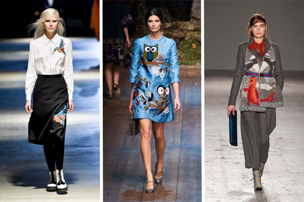 Giles Fall 2014, Dolce & Gabbana Fall 2014, Stella Jean Fall 2014