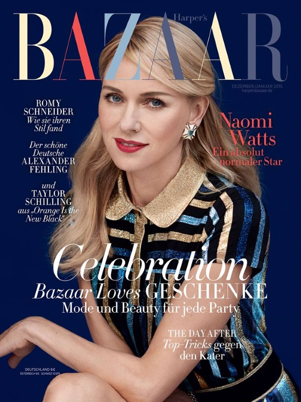 Harper's Bazaar Germany Dec 14 / Jan 15 Noami Watts