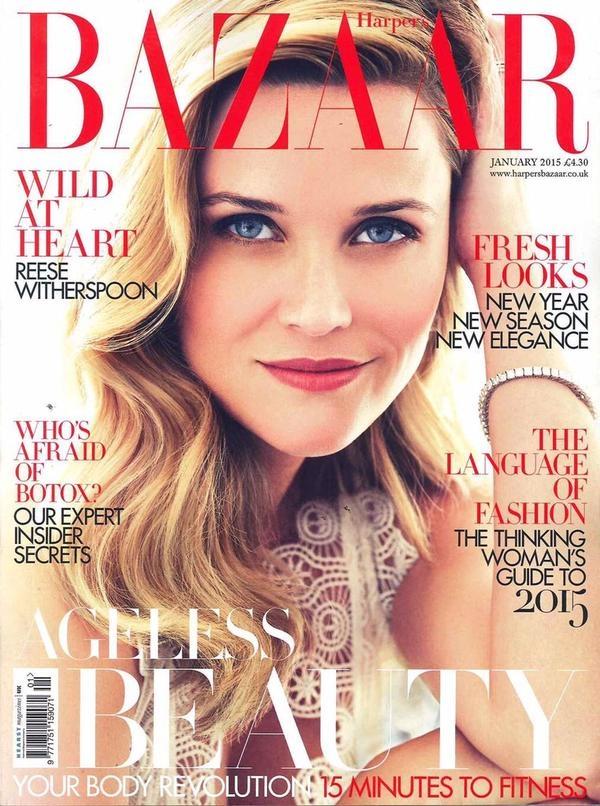 UK Harper's Bazaar January 2015 Reese Witherspoon