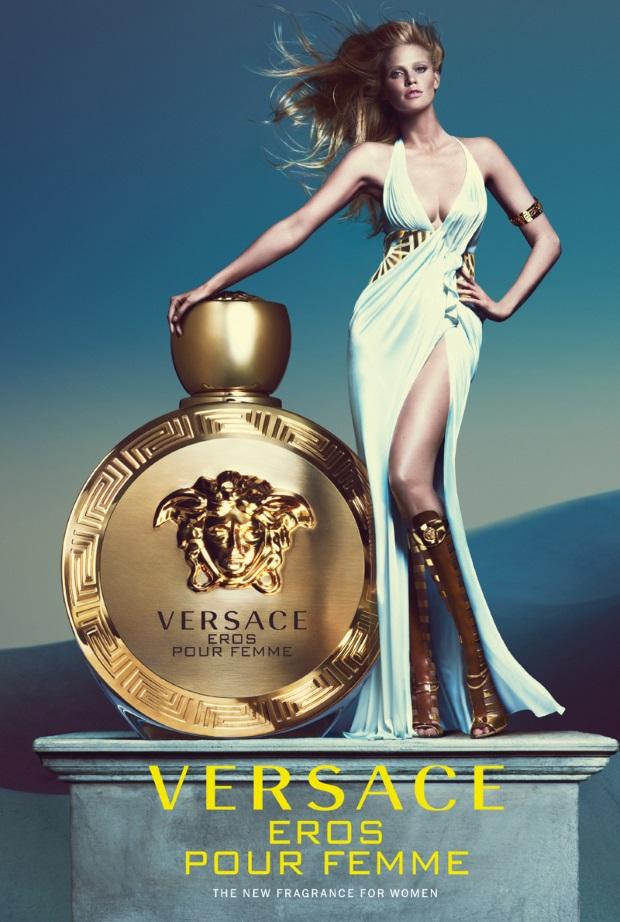 Versace Eros Pour Femme Campaign Lara Stone
